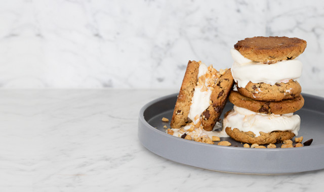 Smores ice cream sandwiches