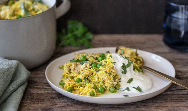 Stovetop Chicken Biriyani Recipe