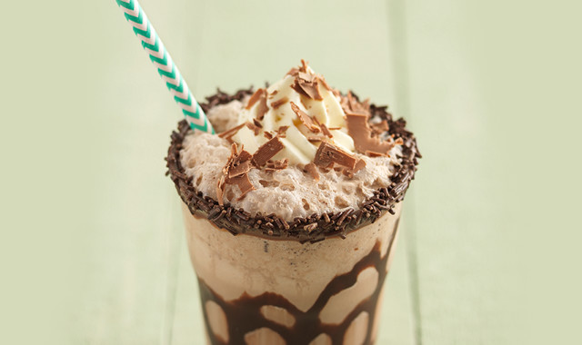 Classic triple chocolate milkshake