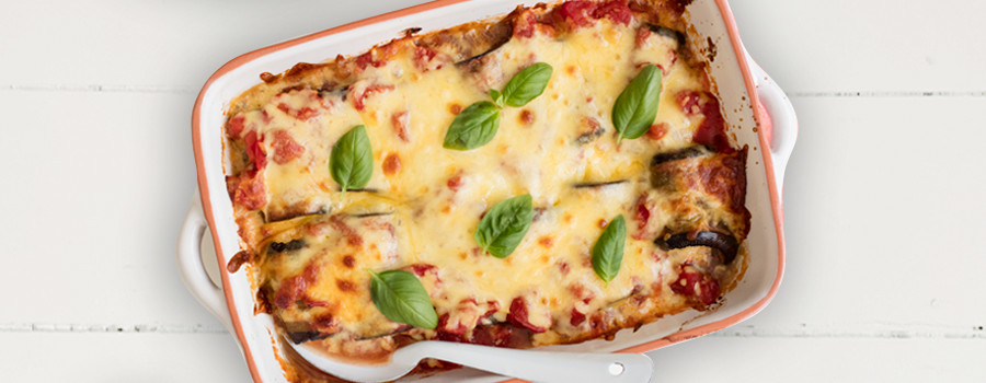 Easy Cheesy Eggplant Bake Recipe We Are What We Eat